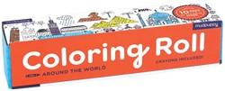 Mudpuppy Coloring Roll - Around the World