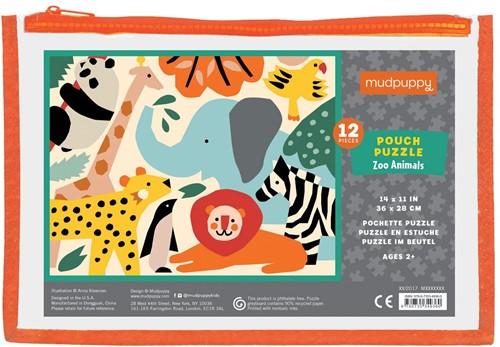 Mudpuppy Pouch puzzle - Zoo Animals - 12pcs