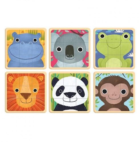Mudpuppy 6 puzzels Dieren van de Wereld 9 stukjes-2