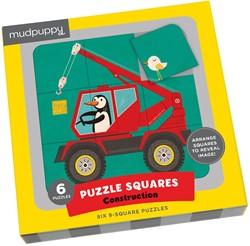 Mudpuppy 6 puzzels Constructievoertuigen 9 stukjes