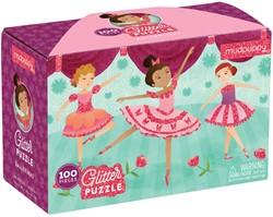 Mudpuppy glitterpuzzel Ballerina's - 100 stukjes