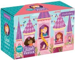 Mudpuppy glitterpuzzel Prines - 100 stukjes