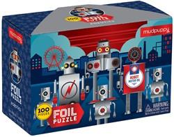 Mudpuppy foliepuzzel Robots - 100 stukjes