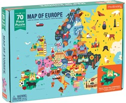Mudpuppy geografie puzzel Europa - 70 stukjes
