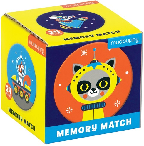 Mudpuppy Mini Memory Game - Outer Space