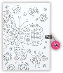 Mudpuppy dagboek met slot Vlinder