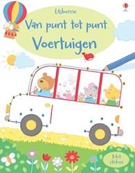 Kinderboeken  kleurboek Van punt tot punt voertuigen