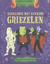 Usborne Stickerboek aankleden met stickers griezelen
