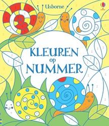 Usborne  kleurboek kleuren op nummer 3+