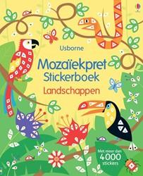 Kinderboeken  doeboek mozaiek stickerboek landschapp