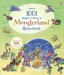 Usborne  stickers Stickerboek - 1001 dingen zoeken in Monsterland