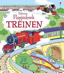 Usborne  voorleesboek Flapjesboek treinen