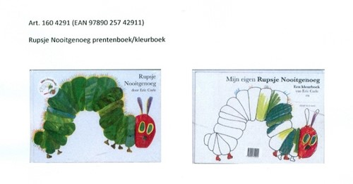 Gottmer Rupsje Nooitgenoeg - Rupsje Nooitgenoeg prentenboek/kleurboek, geseald. 3+
