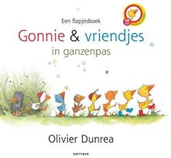 Kinderboek voorleesboek Gonnie en vriendjes in ganzenpas flapjesboek