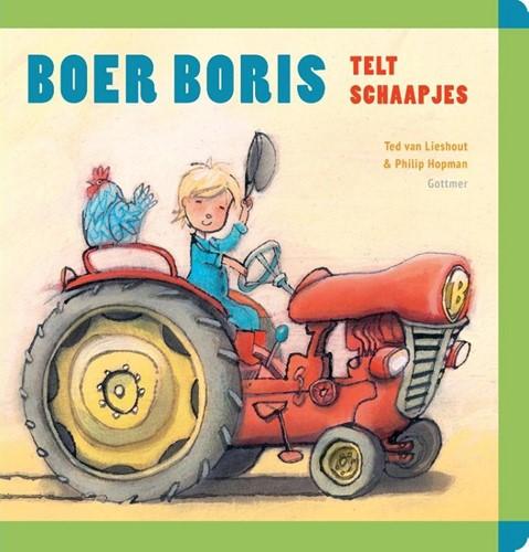 Gottmer kartonboek Boer Boris telt schaapjes. 2+