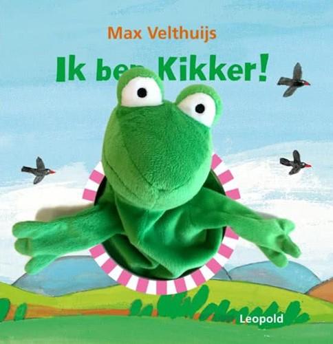 Kinderboeken  voorleesboek Ik ben kikker met handpop