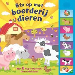 Kinderboeken geluidenboek Sta op met boerderijdieren