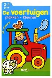 Kinderboeken  kleurboek Plak en kleur - De voertuigen