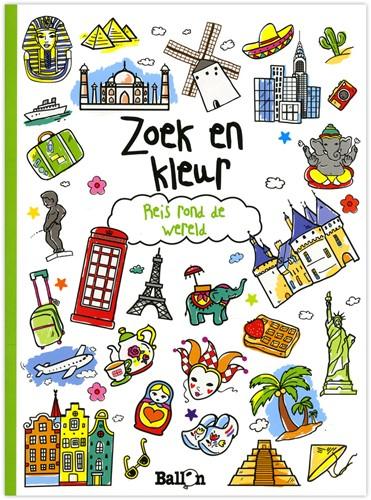 Kinderboeken  doeboek Zoek & kleur reis om de wereld