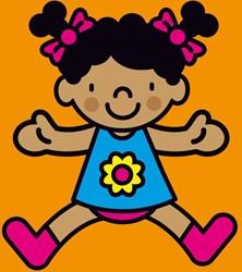 Kinderboeken  babyboek Linnenboekje pop