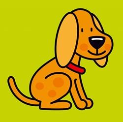 Kinderboeken  babyboek Linnenboekje hond