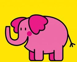 Kinderboeken  babyboek Linnenboekje olifant