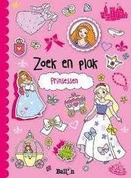 Kinderboeken  doeboek Zoek & plak prinsessen
