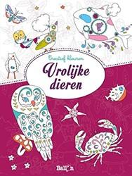 Kinderboeken  kleurboek Creatief kleuren vrolijke dier