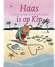 Kinderboeken  avi boek Haas is op kip AVI M3