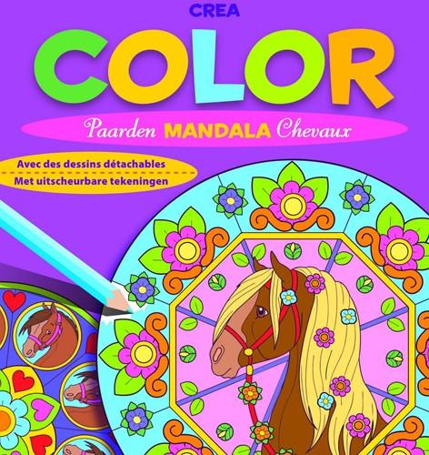 Deltas Crea color paarden mandala (met uitscheurbare tekeningen)