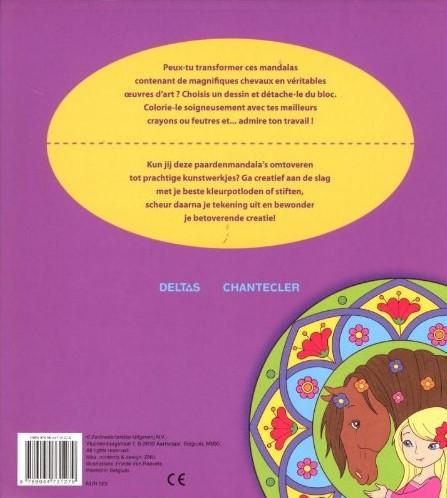 Deltas Crea color paarden mandala (met uitscheurbare tekeningen)-2