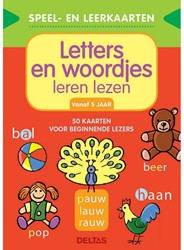 Deltas Speel- en leerkaarten - Letters en woordjes leren lezen (+5 j.)