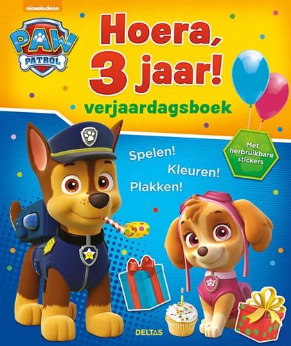 Deltas Paw Patrol Hoera, 3 jaar! Verjaardagsboek