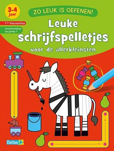 Deltas Educatieboek zo leuk is oefenen! leuke schrijfspelltjes 3-4 jaar