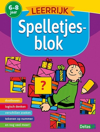 Deltas educatieboek leerrijk spelletjesblok 6-8 jaar