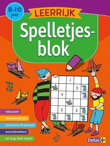 Delats educatieboek leerrijk spelltjesblok 8-10 jaar