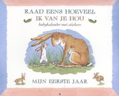 Kinderboek prentenboek raad eens hoeveel ik van je hou mijn eerste jaar