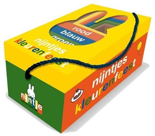 Nijntjes kleurenfeest, box met 5 boekjes en 5 stapelkubussen. 2+
