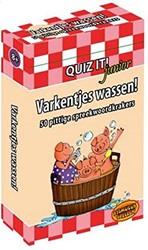 Kinderboeken  leerkaarten Quiz it! jr Varkentjes wassen