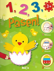 Kinderboeken kleurboek 1, 2, 3, pasen!