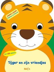 Kinderboeken doeboek plak en kleur tijger en zijn vriendjes