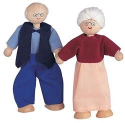 Plan Toys houten poppenhuis poppen Grootmoeder