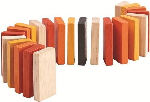 Plan Toys houten domino spel in blikje