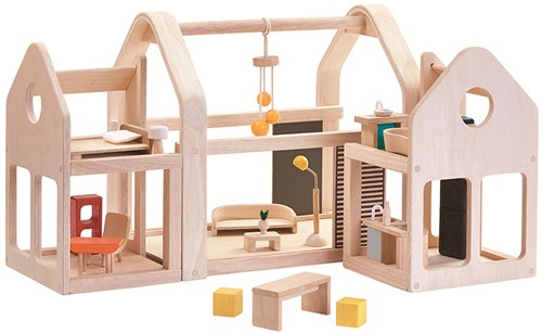 Plan Toys meeneem Poppenhuis