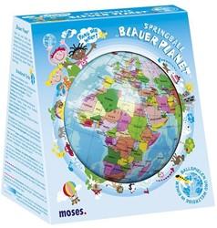 Moses Bal wereldbol Blauwe Planeet 15 Cm