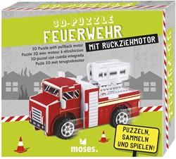 Moses 3D Puzzel brandweer met pullback motor 3 assorti