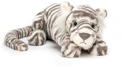Jellycat knuffel Sacha Sneeuw Tijger Klein 27cm