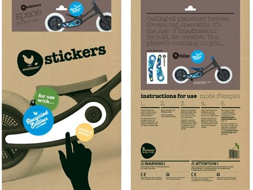 Wishbonebike loopfiets accessoires recycled stickers Space-1