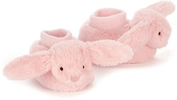 Jellycat Bashful Pink Bunny Booties - 10cm
