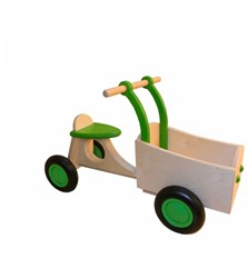 Van Dijk Toys houten Bakfiets limegroen